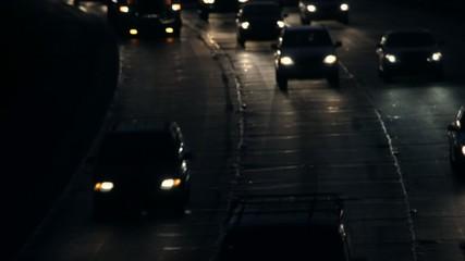 Heavy Night Traffic #1 time lapse