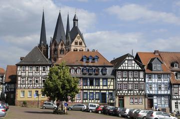 Obermarkt und Marienkirche in Gelnhausen
