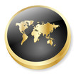 INTERNATIONAL Web Button (World Map Global Travel Worldwide 3D)