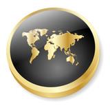 INTERNATIONAL Web Button (World Map Global Travel Worldwide 3D) poster