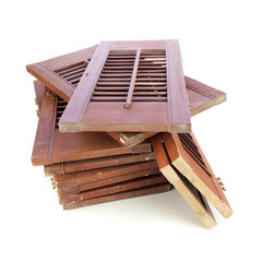 Used window shutters - recycled building materials