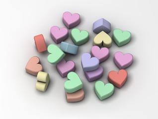 Píldoras con forma de corazón