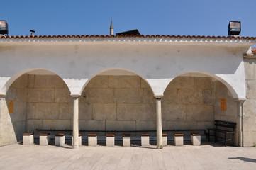 backyard of mosque