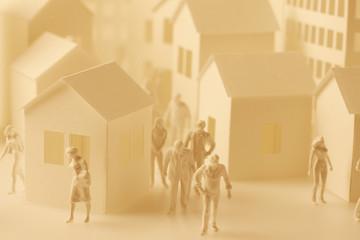模型の家と人形