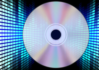Compact Disc on Equalizer Background