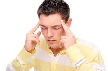 Man with head ache