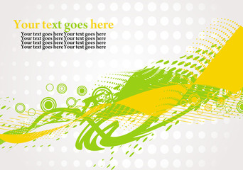 Abstract grunge wave background, vector