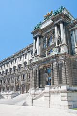 Hofburg Eingang, Ansicht vom Burggarten, Wien, Österreich