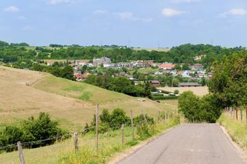 Dutch landscape with village