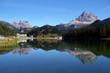 Leinwandbild Motiv Die Postkarte vom Misurinasee - Dolomiten