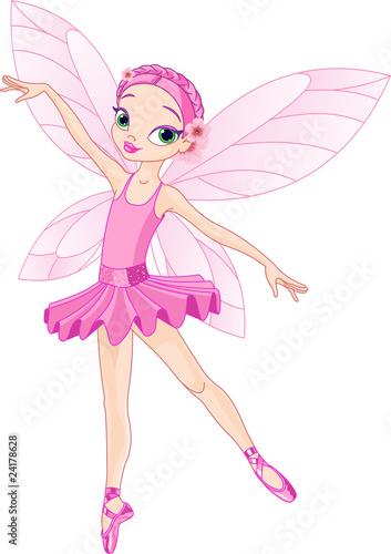 Foto op Aluminium Kasteel Cute pink fairy