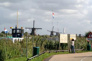Windmills of Kinderdijk in Holland