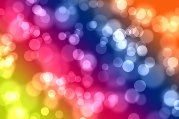 bokeh on multi color background