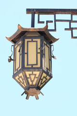 An old lamppost  in chinese style.Thailand.