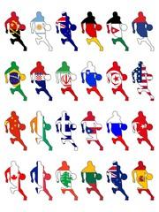 set of national basketball colors
