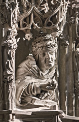 Stephansdom gothic pulpit detail, Vienna