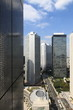 Panorama with skyscrapers around city hall in Tokyo City, Japan