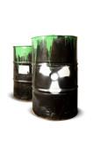 toxic drum barrels spilled their hazardous content poster