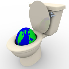Flushing Earth Down the Toilet