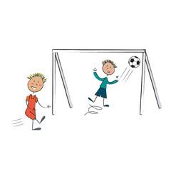 2 enfants foot sans fond
