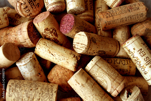 Wine corks' background