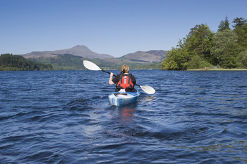 Kayaking on Loch Chon
