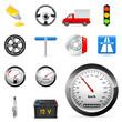 Auto-, Transport- und Verkehr-Icons