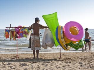 Venditore ambulante da spiaggia