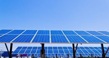 Alternative Solar Energie. Sonnenenergie Kraftwerk.