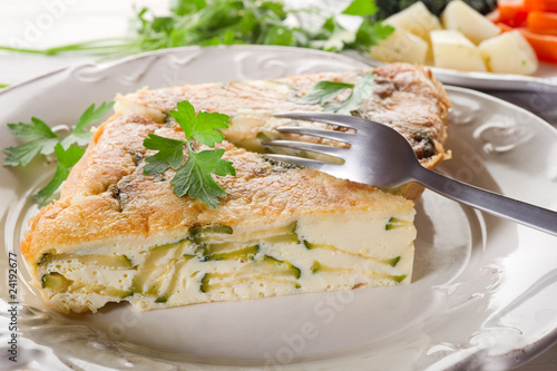 omelette with vegetables - frittata con verdure