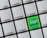 The keyboard and start
