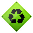 entsorgung, recycling, button, schild, grün