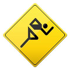 sprint, leichtathletik, laufen, button, schild, sign