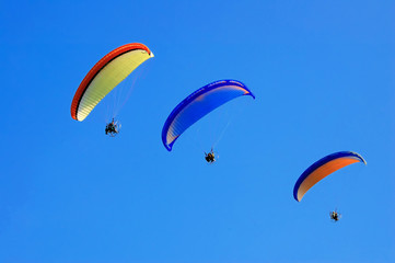 Three Paramotor fly