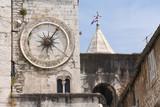 Romanesque tower clock in Split, Croatia poster