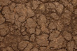 The soil which has cracked from a drought (background, close-up)