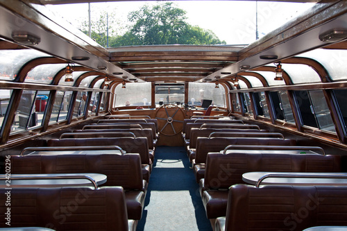 Interior of  pleasure boat