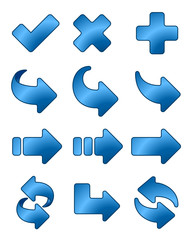 Arrow icon blue set