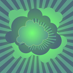 Retro disco clouds wallpaper