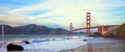 Foto op Aluminium San Francisco Golden Gate Bridge Panorama