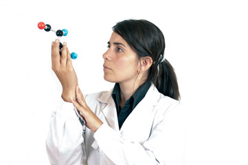 Female Scientist working with organic molecules