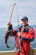 Fisherman with fish