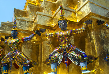 Guardian devils in the Grand Palace in Bangkok