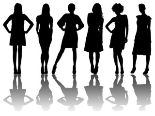 6 silhouettes of women /4