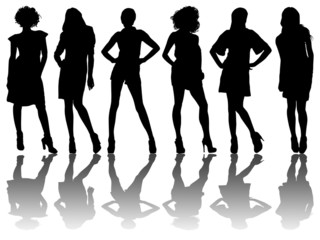 6 silhouettes of women /3