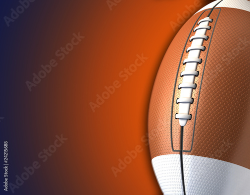3d american football background