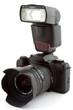 Leinwanddruck Bild - Camera mit Blitz