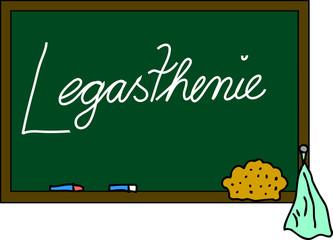 Schultafel Legasthenie
