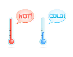 hot and cold temperatures