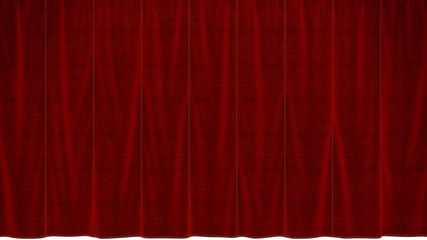 Dropped Red Curtain